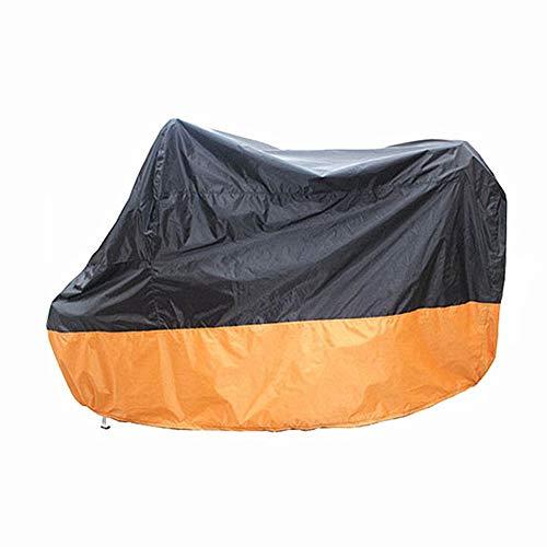 HuaXX Motorrad Abdeckplane Motorradabdeckung Winterfest Motorradabdeckungen für die Lagerung im Freien Rollerabdeckung wasserdicht im Freien Black orange,XXXL