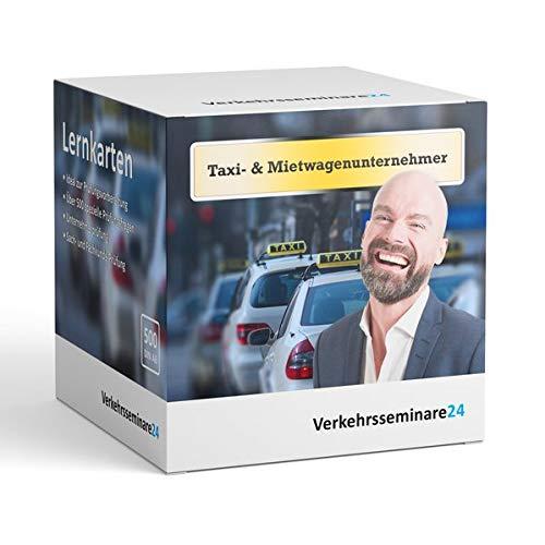 Lernkarten Taxi Mietwagen Unternehmer von Verkehrsseminare24 500 Karteikarten inkl. Box zur Aufbewahrung