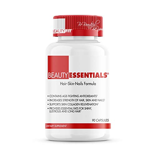 BeautyFit - BeautyEssentials Hair-Skin-Nails Formula Capsules - Rejuvenates Nails and Hair - Supports Skin Regeneration - Contains Essential Fat Ingredients - 90 Count