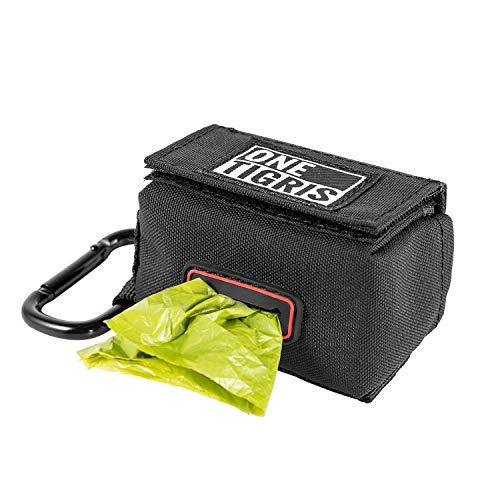 OneTigris Verbesserte Mini Kotbeutelspender für Hunde Katze Poop Bag & Baby Wickeltasche (Schwarz) |MEHRWEG Verpackung