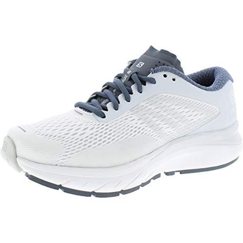 Salomon Sonic RA Max 2 Running Shoes Womens Sz 9 White/Illusion Blue/Stormy