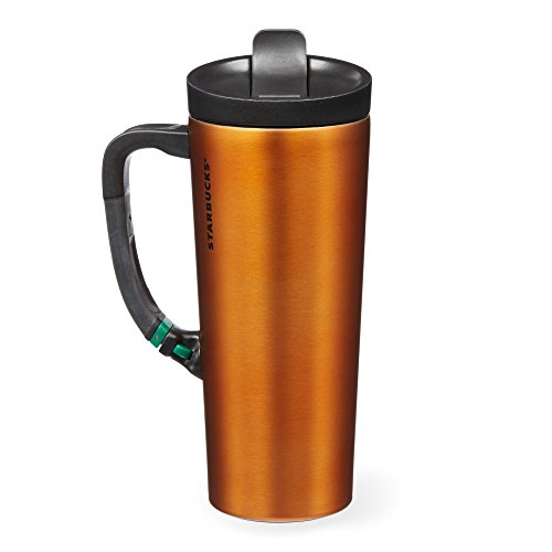 Starbucks Stainless Steel Clip Tumbler - Orange, 16 Fl Oz
