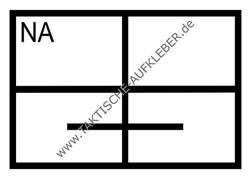 Aufkleber Notarzt (NA) im Rettungsdienst (10,5 x 7,4 cm) für Auto/PKW