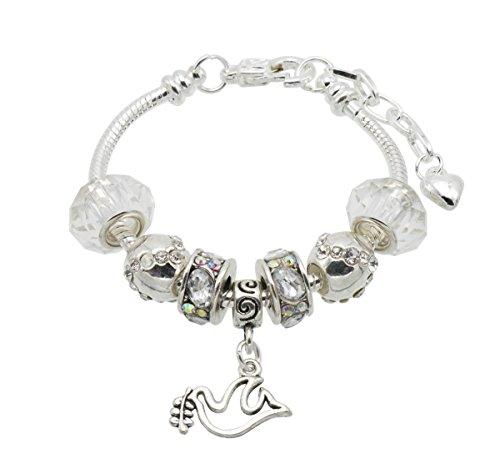 Jewellery Hut Gioielli capanna da ragazza conferma fascino braccialetto con scatola regalo e cresima