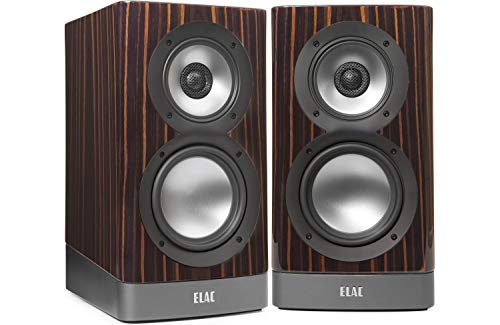 Elac ARB51-GE Navis Premium Powered Bookshelf Speakers - (Pair) Gloss Ebony Emara