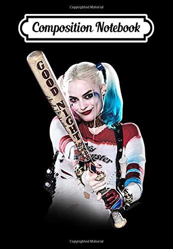 Composition Notebook: Womens Suicide Squad Harley Quinn Bat At You V-Neck, Journal...