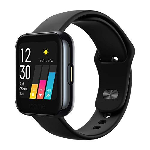 realme Watch - Smartwatch, pantalla de 1.4 , frecuencia cardíaca PPG, saturación de oxígeno (SpO2), 14 modos deportivos, batería 160mAh (7 9 días duración) - Negro [Versión ES PT]