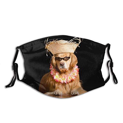 Golden Retriever Perro Pelo Cómodo y Moda Oral Máscara Protectora Pasamontañas Neutral Al Aire Libre A Prueba De Polvo