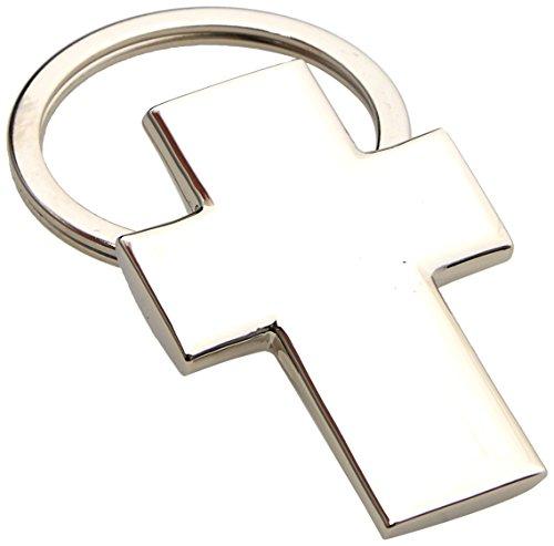 Mopec M639 - Llavero de metal con forma de cruz para...