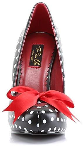 Pleaser PinUp Couture Vintage Schuhe Pumps, Schwarz / Polka Dots - 4