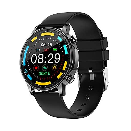 DADAS Smart Watch Men's y Women's Watch 1.28 Pulgadas Pantalla táctil Watch Smart Watch Monitor de frecuencia cardíaca, rastreador de Actividades del podómetro,Negro