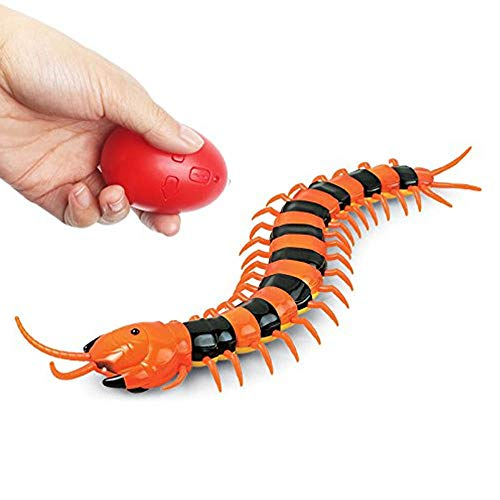 LUCKSTAR Remote Control Centipede Toy - Rechargable Electric Infrared RC Scolopendra - Simulation Fake Creepy-crawly Chilopod Toy for Children