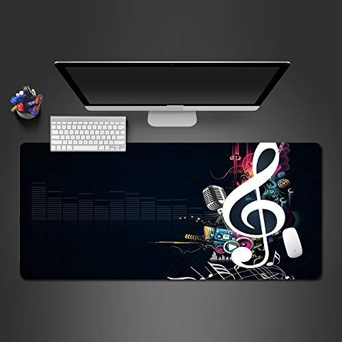Hermosa música Alfombrilla de ratón Reproductor de PC de Goma Personalidad Novela Teclado portátil Alfombrilla de Mesa Grande Alfombrilla de ratón de computadora y Oficina 900x400x2