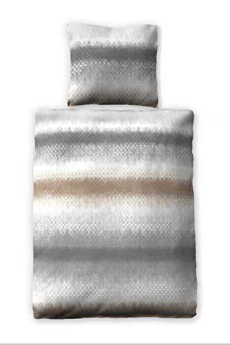 jilda-tex Seersucker-Bettwäsche Sommerbettwäsche Rhodos 135x200 cm + 80x80 cm Ökotex-100 100% Bio-Baumwolle mit Reißverschluss (135x200 + 80x80 cm)