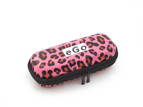 Zipper Etui Leopard pink small für e-Zigaretten eGo-T / eGo-C / eGo-W / 510 / 510-T von Hannets®