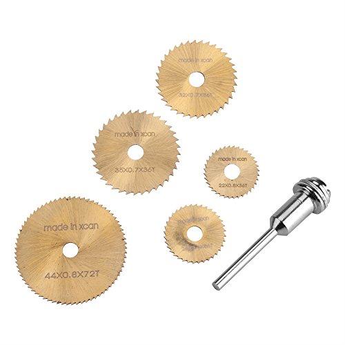 6Pcs Hojas de Sierra Circular HSS Cuchillas para Cepilladora Herramienta Rotatoria Cuchillas Discos de Corte Rotativo de Metal