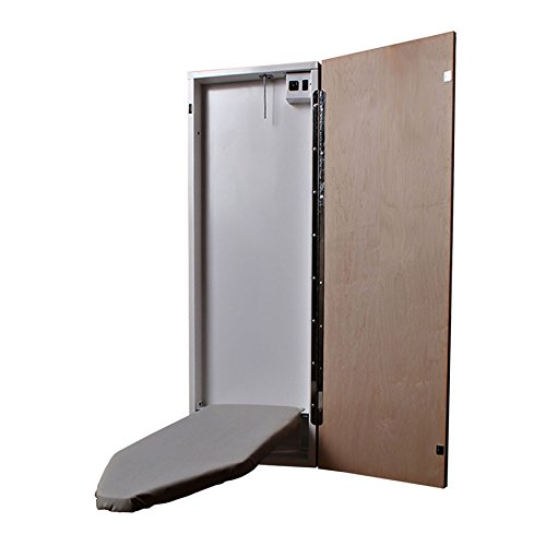 HANDi-PRESS EL-42-1000 Electric Built-In Ironing Board, Maple Door