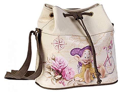 Disney Borsa Sacco Donna tracolla 7 nani Viaggio nanitos cucciolo Women Shoulder Bag Travel