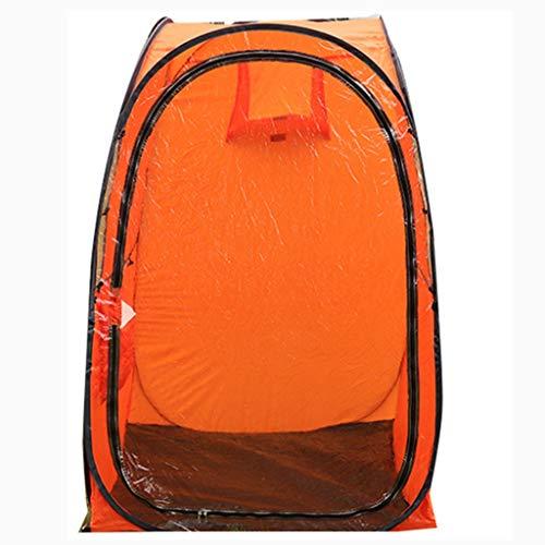 Refugio de Pesca Hielo Tienda Tienda de Pesca en Hielo 1 Personas 100 * 100 * 150 CM Fuerte Impermeable Refugio de Peces de Hielo Ligero Bolsa de Transporte Pesca Camping Senderismo Color Naranja