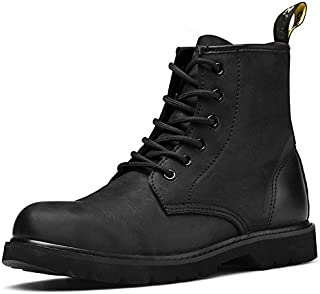 HSXZ Unisex Shoes Nappa Leather Winter Fall Cowboy / Western Boots Fashion Boots Combat Boots Boots Flat Heel Round Toe Booties/Ankle Boots for