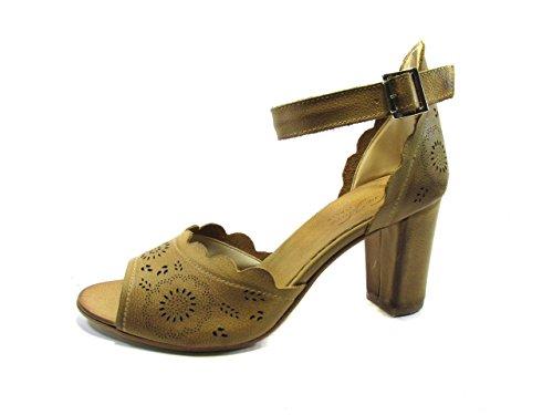 Sandalo Vintage con Tallone Coperto E Laccio Caviglia 40, Cuoio MainApps