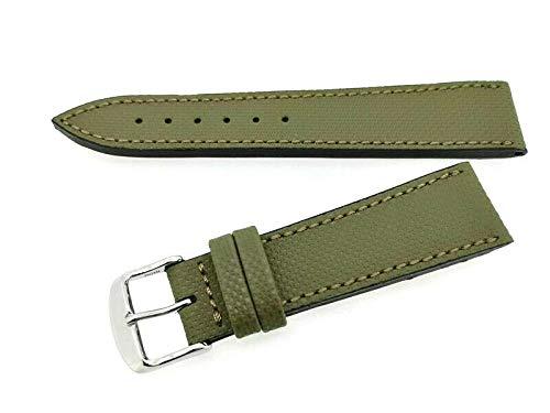 Fluco wasserabweisendens Uhrenarmband Nautilus grün (Waterproof) 21 mm