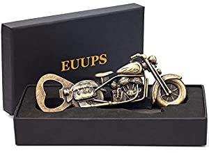 UNIQUE BIKER GIFTS FOR MEN: Gift for dad grandpa boyfriend, he will be shocked at the quality and craftsmanship of this unique motorcycle gifts bottle opener. Perfect gifts for motorcycle lovers! Unique gifts for beer lovers! Add these durable, sturd...