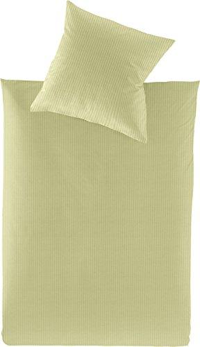 Irisette Bettwäsche Interlock-Jersey grün Größe 135x200 cm (80x80 cm)
