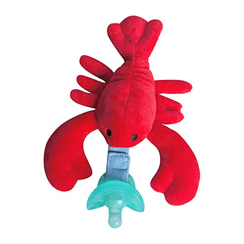 Baby Infant Pacifier - Plush Lobster Pacifier Holder, Soothie Snuggle...