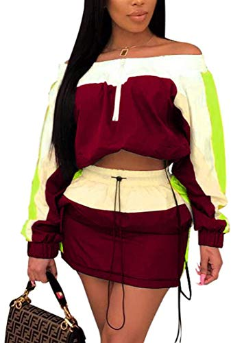 ksotutm Women 2 Piece Outfits Lightweight Windbreaker Jacket Top + High Waist Shorts Plus Size Tracksuit Jumpsuits