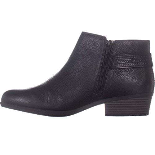 Clarks New Women's Addiy Kara Ankle Boot Black Tumbled Leather 8.5