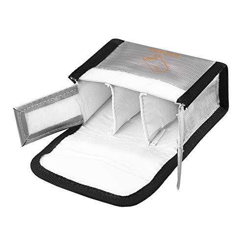 Sharplace Batería Lipo Bolsa Segura a Prueba de Explosiones a Prueba de Fuego Bolsa de Almacenamiento de Protección Segura Resistente Al Fuego Saco para Drones - Blanco L
