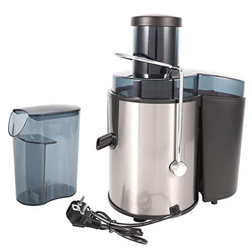 Wakects Licuadora de frutas y verduras, 400 W, extractor de zumo en frío con 75 mm, boca ancha, doble ajuste de la velocidad del cambio, fácil de limpiar, licuadora de acero inoxidable