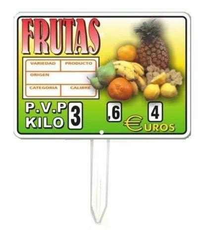 Portaprecio Frutas, Pizarra para frutas, portaprecio fruteria, pizarra precios - 12 ud.