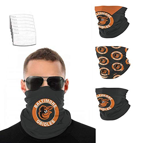 Neck Gaiters Face Madks Shield Bandanas Scarf Washable Reusable for Men Women 3 Pack with Filters