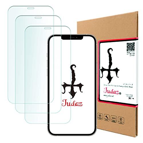 【 Judaz 】 3枚セット HD ガラスフィルム Apple iPhone 13 / 13 Pro (アイフォン13 / 13プロ 6.1インチ) 対応 保護フィルム 最高硬度9H 日本製素材旭硝子製 ガラス 撥油性 指紋防止 超薄タイプ ラウンドカット 0.3mm フィルム アップルiphone13 あいふぉん13Pro iPhone13pro x3枚
