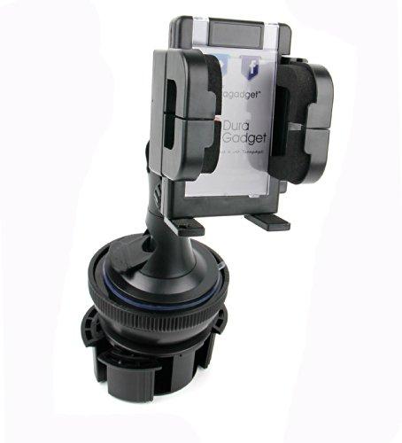 DURAGADGET Support porte-gobelet voiture + support 3 en 1 pour GPS/assistant d'aide à la conduite Coyote Nav, Mappy Maxi E618 Europe (pare-brise, grille d'aération et tableau de bord) - garantie 5 ans