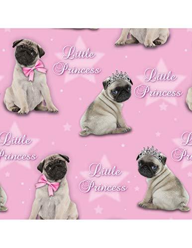 Otter House Little Princess - Geschenkpapier - Gift Wrap & Tags - Mops Prinzessin