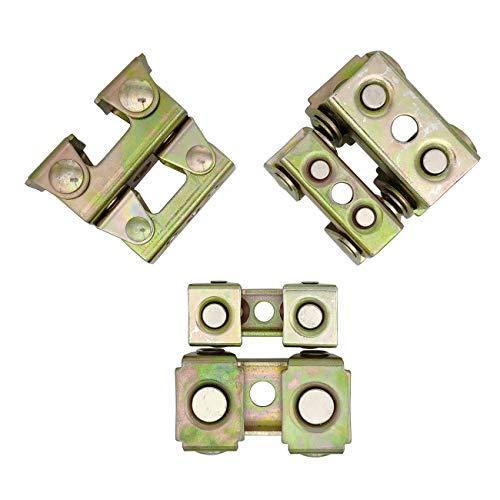 Adjustable Magnetic Welding Clamps, Magnetic V-sharp Tab Holder Corner Panel Holder for Tack Welding, 6pc