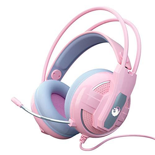 Jumor Auriculares Gaming Premium De Diadema Ajustables con Micrófono Y Control De Volumen, Bass Surround Y Cancelación De Ruido para PS4, PC, Xbox One, Cascos Gaming