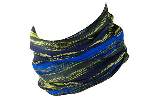 Hilltop Multiuso Fascia Bandana Scaldacollo Foulard - Datechip 12 in 1 Sports Buff scaldacollo, Face shield, Fascia Capelli, Balaclava, Scaldacollo moto, Donne, Uomo, Bambini,Yellow Stripes