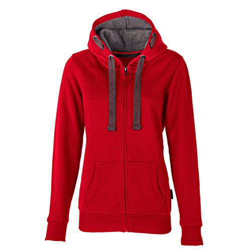HRM Damen Jacket F Kapuzenpullover, Rot (Red 3), Large