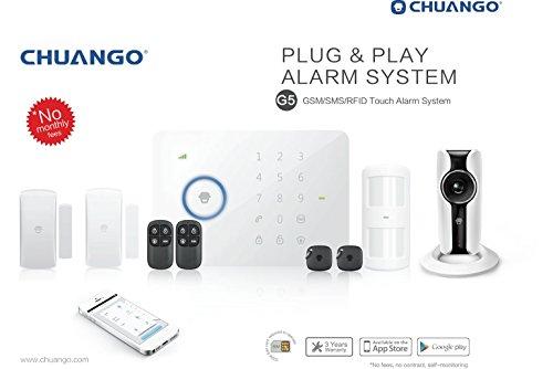 GSM/SMS Chuango RFID-radio-de alarma G5 con WiFi Cámara IP IP116