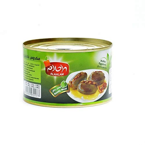 Al Ahlam Makdous Shami Stuffed Eggplants in Oil to Ready Shipping included Serve store