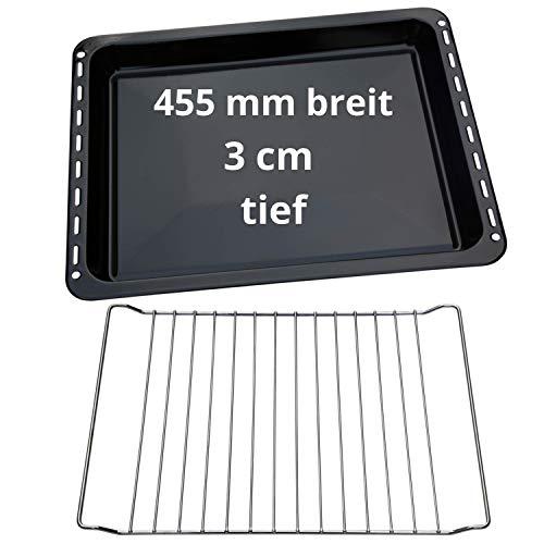 UD UNIQ DEALZ Set 455x370x31 mm Backblech und Backrost passend für Bosch/Siemens/Constructa/Neff BSH-Gruppe für Teile Nr. 675876 und 662999 / Balay/Profilo/Samsung/Gorenje/Teka/Beko