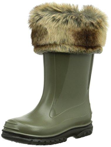 ROMIKA Ricky, Boots Mixte Enfant - Vert (Oliv-Schwarz 695), 33 EU