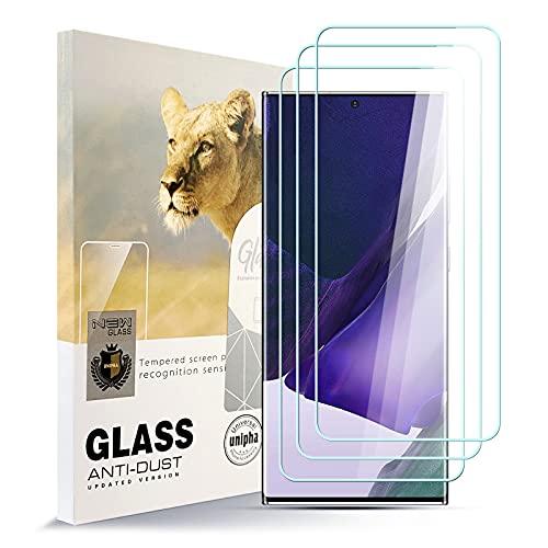 AYSOW Protector de Pantalla para Samsung Note 20 Ultra 5G, 9H Dureza Película de Vidrio Templado HD Antihuellas sin Burbujas Fácil de Instalar,Protector de Vidrio para Samsung Note 20 Ultra 5G [3 Pcs]