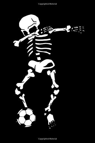 Dabbing Skeleton Soccer Dab Dance: Halloween Notebook | All Souls Day November Creepy Scary Journal Mini Notepad Funny Humor Gift College Ruled (6