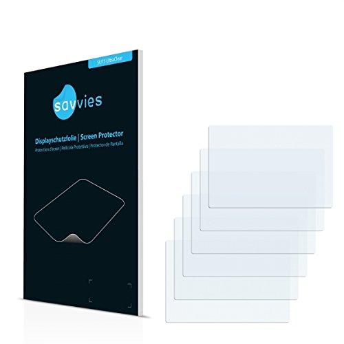 6x Savvies SU75 UltraClear Displayschutz Schutzfolie für GoPro Hero4 Black LCD Touch BacPac (ultraklar, einfach anzubringen)