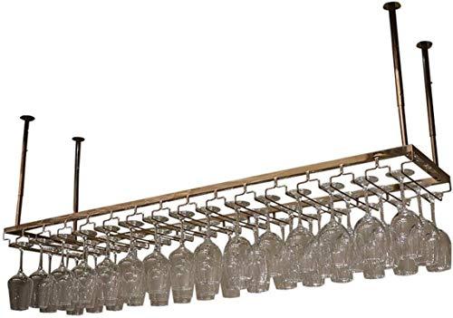 YYHAD Pratico scaffale per Bottiglie di Vino, Wine Rack Holder in Acciaio Inossidabile Wine Glass Capovolto personalità Rack Creativa Multipurpose Wine Rack (Color : Rose Gold)